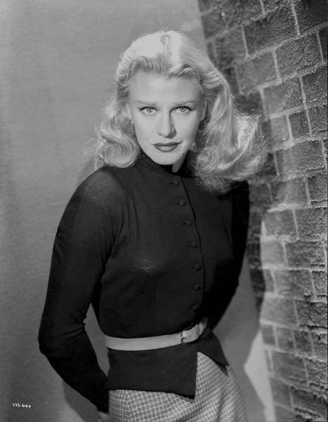 Ginger Rogers Posed wearing Black Dress Premium Art Print