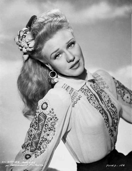 Ginger Rogers Posed with Classic Hairdo Premium Art Print