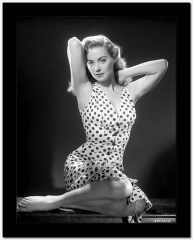 Adele Mara on a Polka Dotted Skirt sitting and posed High Quality Photo