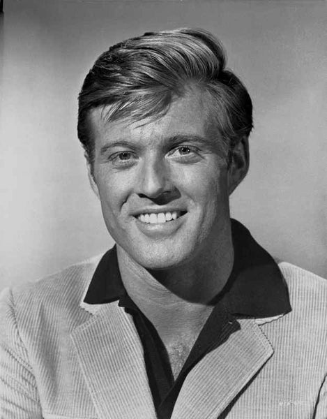 Robert Redford smiling in Portrait Premium Art Print