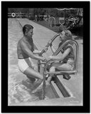 Ronald Reagan in White Swimming Trunks High Quality Photo