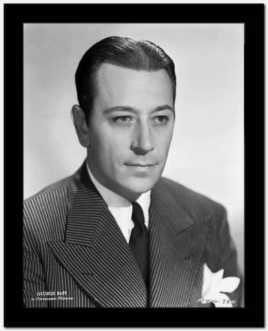 George Raft Posed in Suit and Tie High Quality Photo