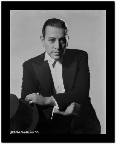 George Raft Posed in Black Suit High Quality Photo