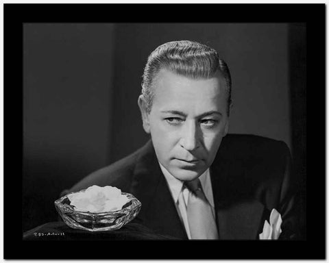 George Raft Posed in Coat and Tie High Quality Photo