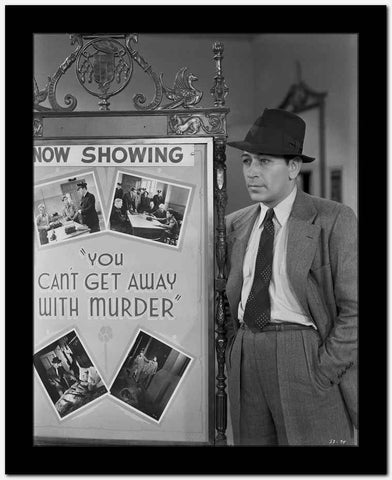 George Raft in Formal Outfit Black and White High Quality Photo