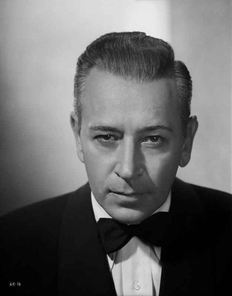 George Raft wearing Tuxedo with Tie Black and White Premium Art Print