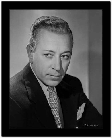 George Raft Posed in Suit with Straight Face High Quality Photo