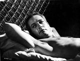 Paul Newman on Bed Black and White Premium Art Print
