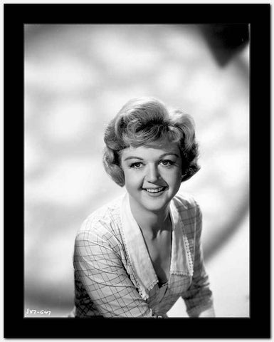 Angela Lansbury Checkered and smiling High Quality Photo