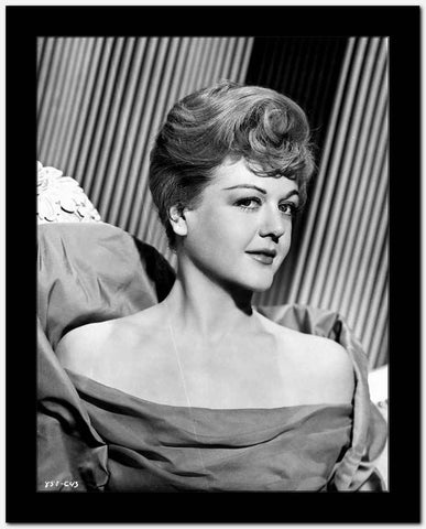 Angela Lansbury Looking Away at the Camera wearing a Dress High Quality Photo