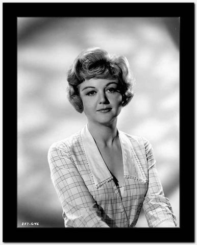 Angela Lansbury on a Checkered Top and posed High Quality Photo