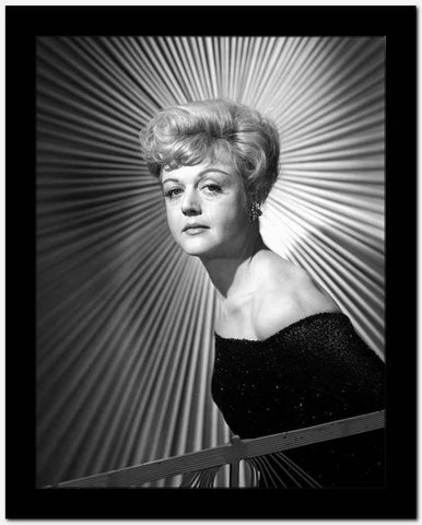 Angela Lansbury on a Dress standing and posed High Quality Photo