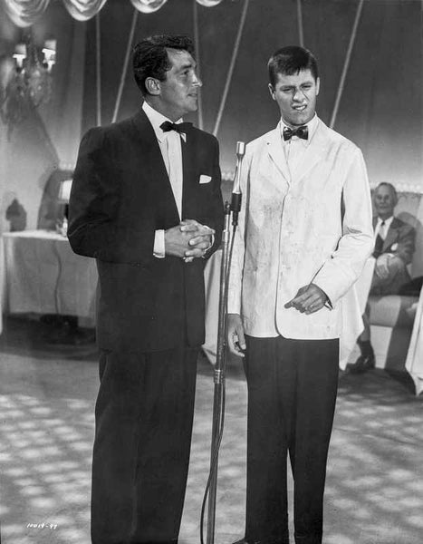 Dean Martin and Jerry Lewis Scene with Two Men in a Formal Attire Premium Art Print