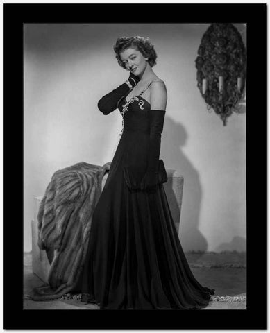 Myrna Loy in Black Gown in Classic Portrait High Quality Photo