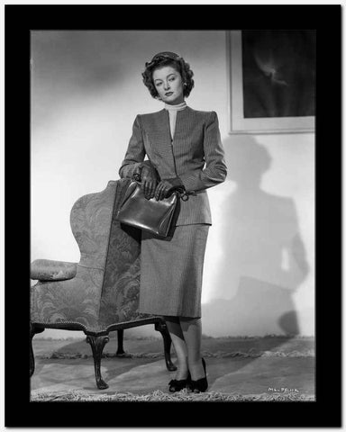Myrna Loy Holding Bag in Black and White High Quality Photo