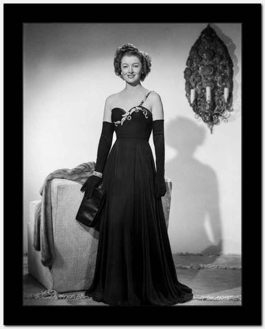 Myrna Loy in Black Gown Classic Portrait High Quality Photo
