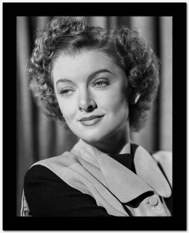 Myrna Loy Candid Portrait in Black and White High Quality Photo