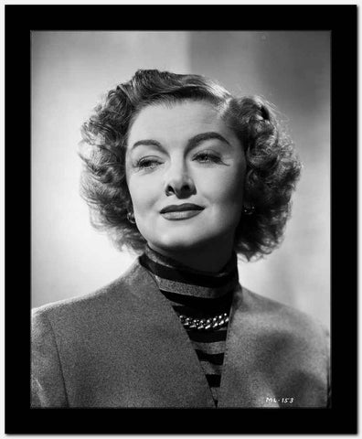 Myrna Loy Black and White Portrait High Quality Photo