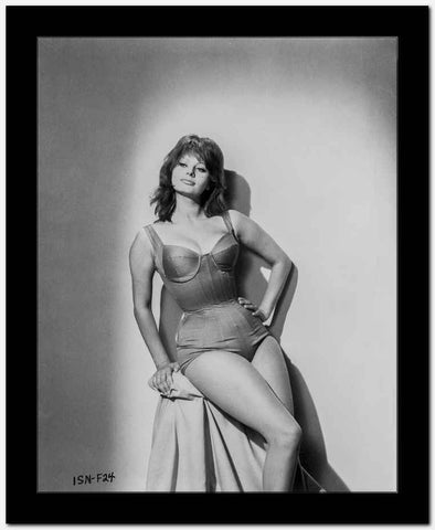 Sophia Loren wearing a Lingerie and sitting on a Chair High Quality Photo