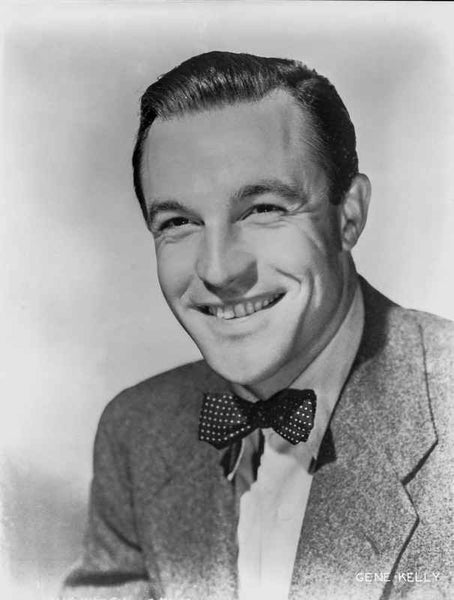 Gene Kelly smiling in Suit and Bow Tie Premium Art Print