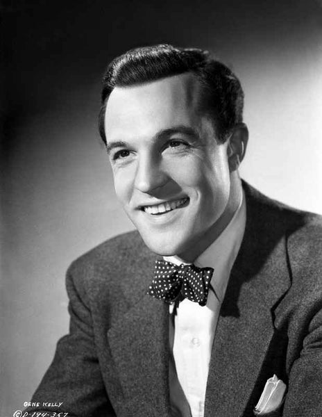 Gene Kelly Close Up Portrait in Black and White Premium Art Print