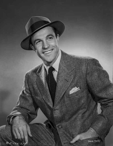 Gene Kelly Posed in Suit and Hat Premium Art Print