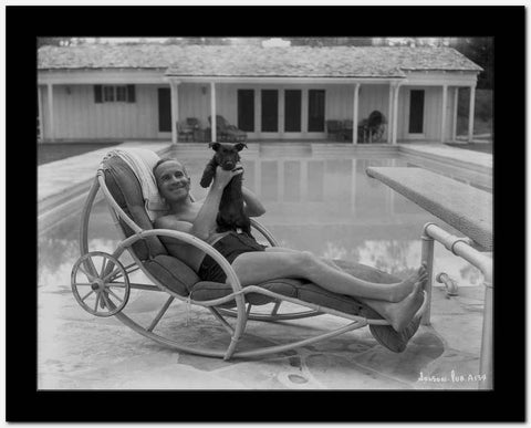 Al Jolson at the Pool High Quality Photo