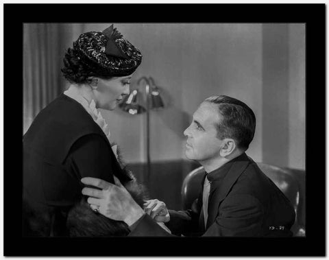 Al Jolson Begging the Woman in Black Coat High Quality Photo