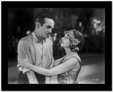 Al Jolson Confronted by the Girl in Stripe Dress and Bandana High Quality Photo
