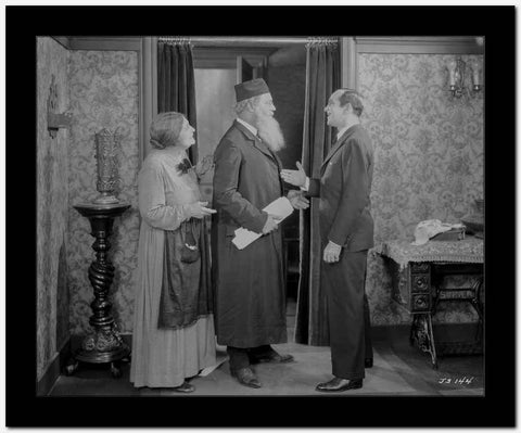 Al Jolson Asking the Guy with Long Beard a Handshake High Quality Photo