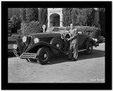 Al Jolson Showing His Vintage Car High Quality Photo