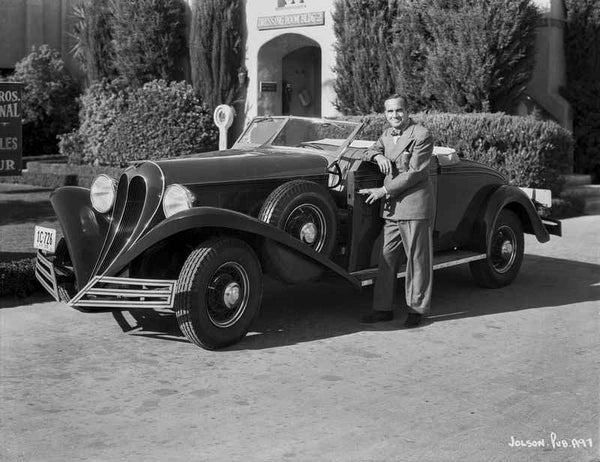 Al Jolson Showing His Vintage Car Premium Art Print