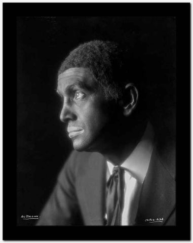 Al Jolson Facing Right in a Close Up Portrait High Quality Photo