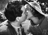 Katharine Hepburn with A Man Kissing Premium Art Print