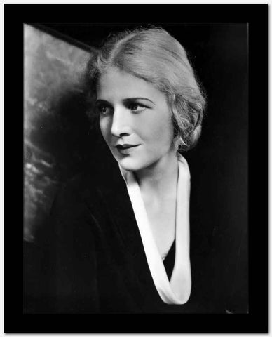 Ann Harding on a Dark Top Look Away Portrait High Quality Photo