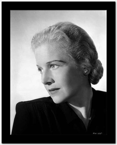 Ann Harding Looking Sad wearing Black Blouse in Portrait High Quality Photo