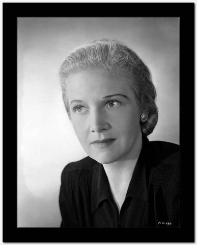 Ann Harding Looking Away From the Camera wearing a Black Blouse in Portrait High Quality Photo