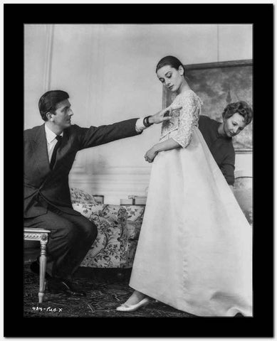 Audrey Hepburn and Gregory Peck Sabrina Wedding Dress High Quality Photo High ...