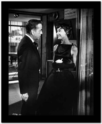 Audrey Hepburn and Humphrey Bogart Sabrina Black Dress High Quality Photo High...