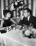 Audrey Hepburn and Humphrey Bogart Sabrina Dinner Premium Art Print