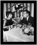 Audrey Hepburn and Humphrey Bogart Sabrina Dinner High Quality Photo