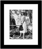 Audrey Hepburn Modeling Portrait Outdoor Garden High Quality Photo