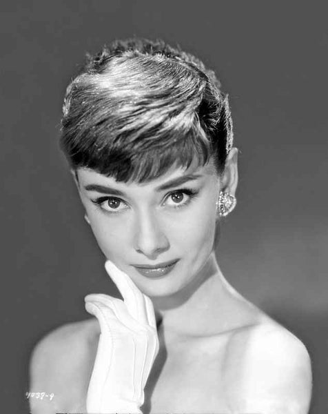 Audrey Hepburn Famous Self Portrait Diamonds Premium Art Print