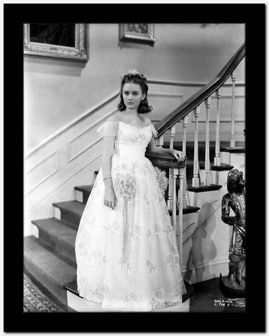 Ann Gillis on a Gown standing Portrait High Quality Photo