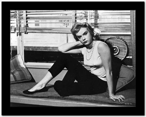 Anne Francis posed in Portrait Beside the Windows High Quality Photo