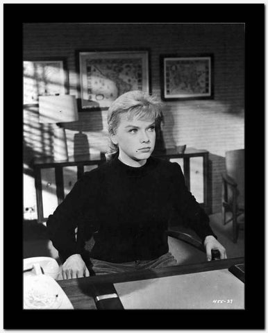 Anne Francis sitting in Black Sweater High Quality Photo