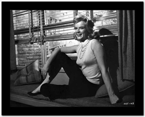 Anne Francis sitting Beside the Window High Quality Photo