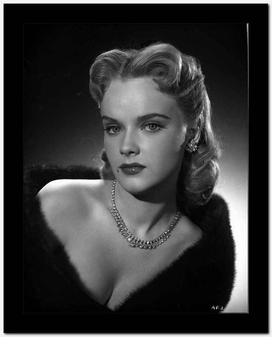 Anne Francis Close Up Portrait with Silver Necklace and Earrings High Quality Photo