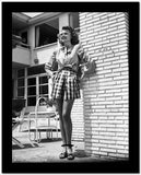 Rita Hayworth wearing a Skirt in a Looking Up Pose High Quality Photo