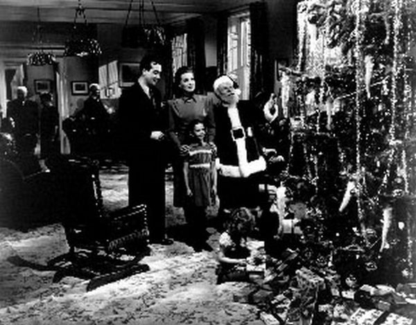 Miracle On 34th Street Movie Scene in a Room with a Christmas Tree Premium Art Print